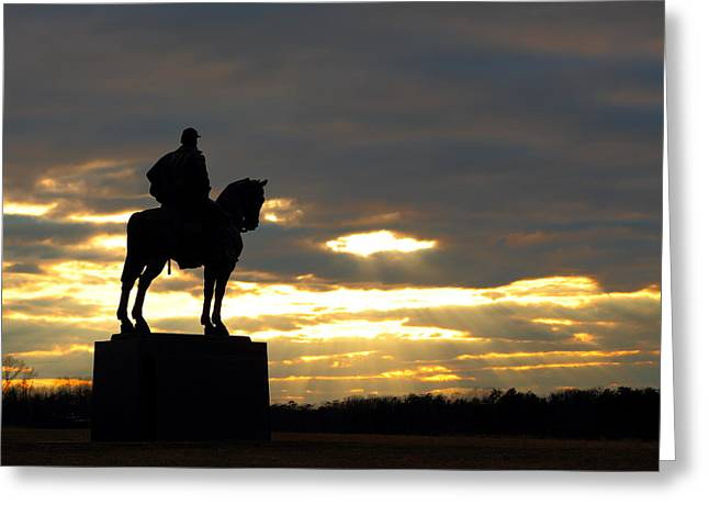 Sunset On The Battlefield Greeting Card
