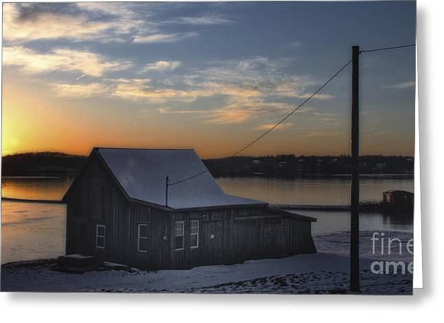 Greeting Card featuring the photograph Sunset On The Bog by Gina Cormier