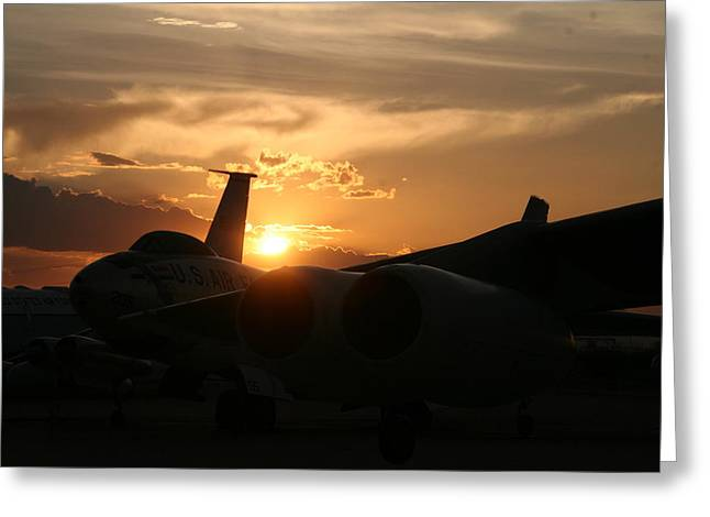 Sunset On The Cold War Greeting Card by David S Reynolds