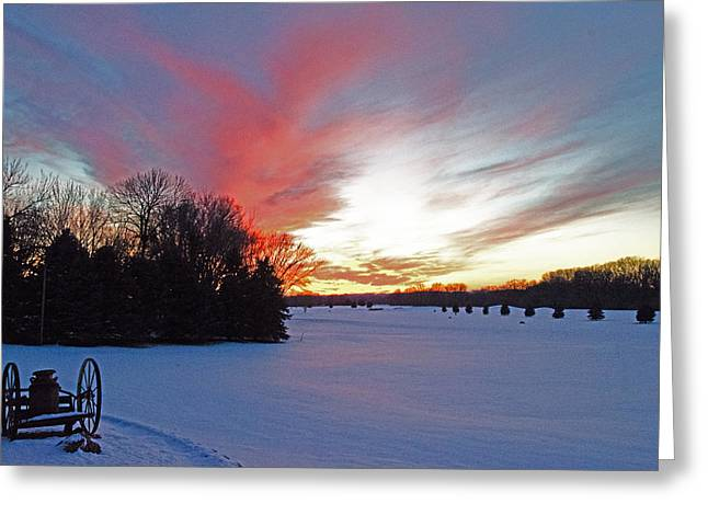 Sunset On The Golf Course Greeting Card by Dan  Meylor