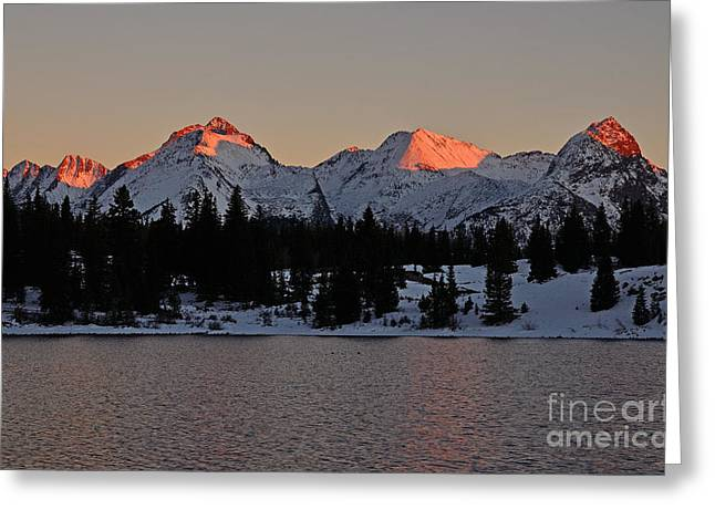 Sunset On The Grenadiers Greeting Card
