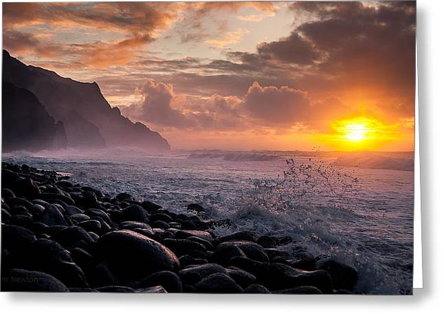 Sunset On The Kalalau Greeting Card