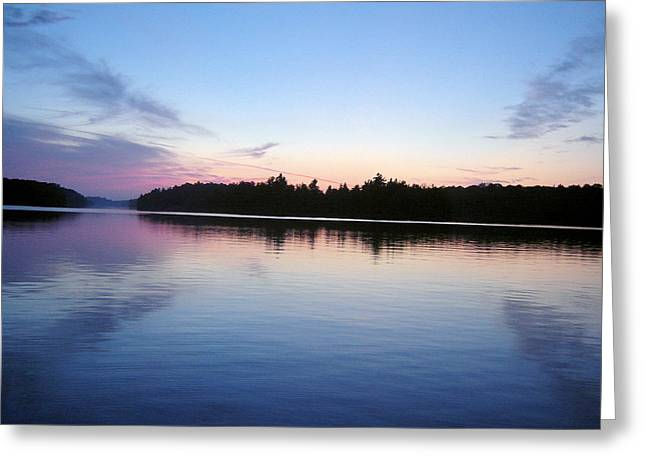 Sunset On The Lake 1 Greeting Card by Gaetano Salerno