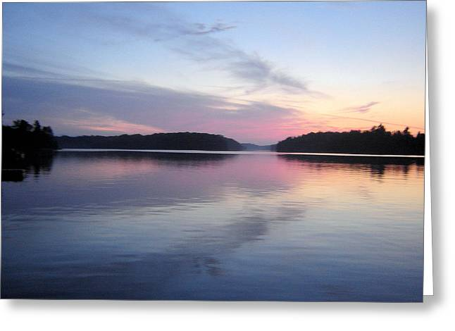Sunset On The Lake 2 Greeting Card by Gaetano Salerno