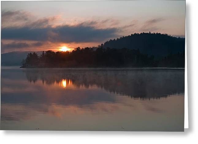 Greeting Card featuring the photograph Sunset On The Lake by Marek Poplawski