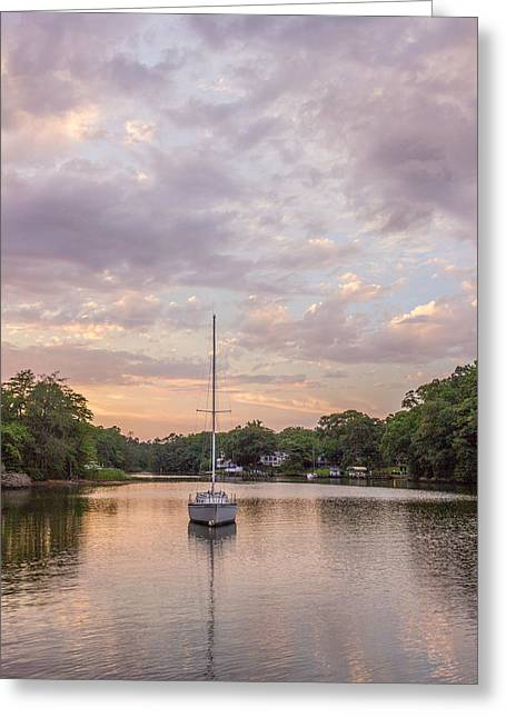 Sunset On The Magothy River Greeting Card