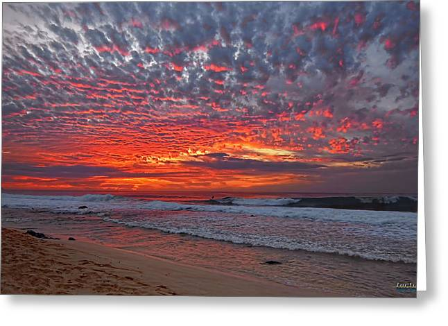 Greeting Card featuring the photograph Sunset On The North Shore by Aloha Art