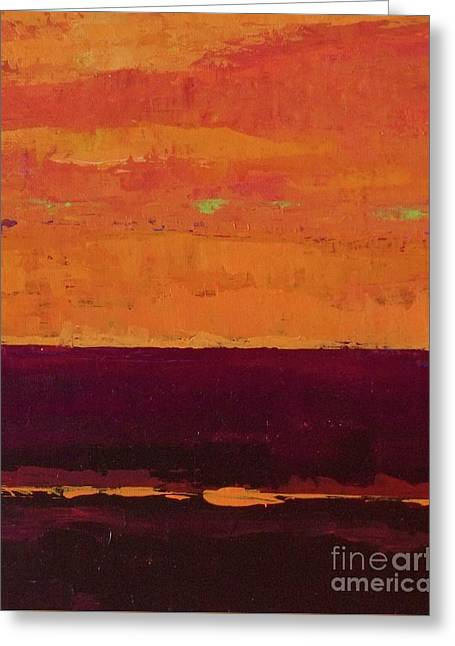 Sunset On The Pier Greeting Card