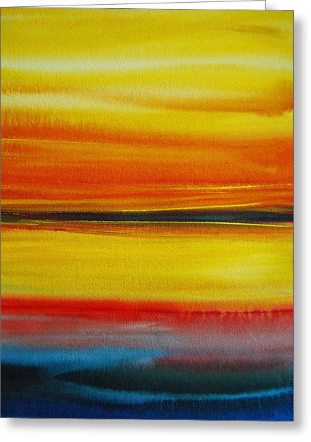 Sunset On The Puget Sound Greeting Card by Jani Freimann