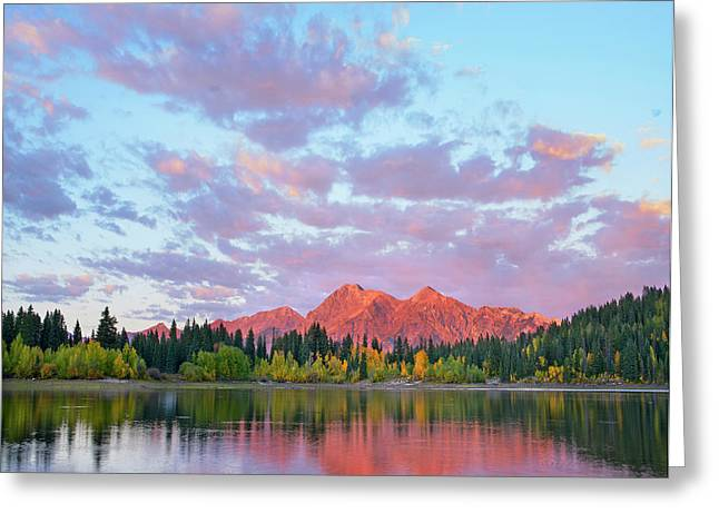 Sunset On The Ruby Range From Lost Lake Greeting Card