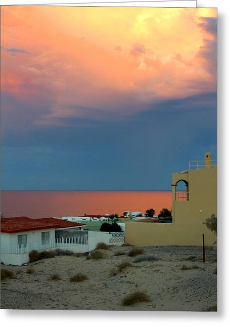 Sunset On The Sea Of Cortez Greeting Card by Dick Botkin