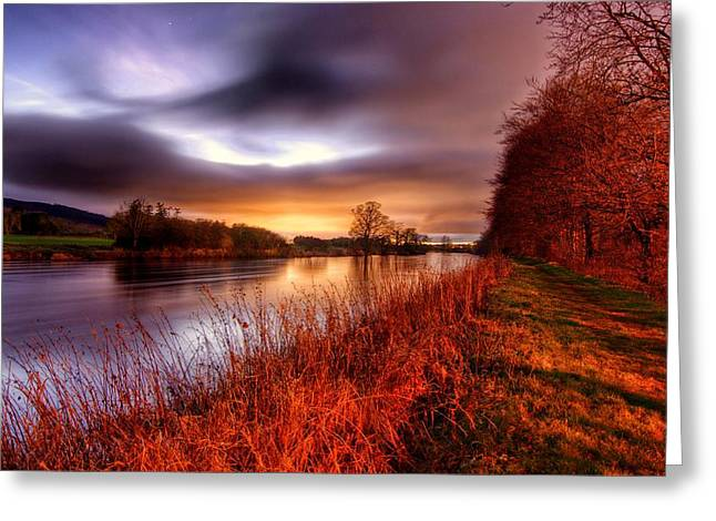 Sunset On The Suir Greeting Card