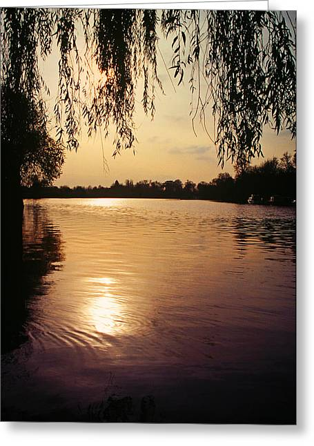 Sunset On The Thames Greeting Card