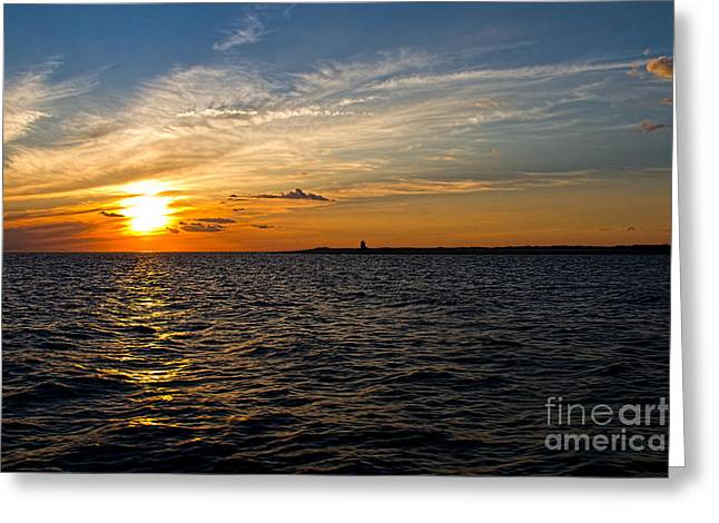 Greeting Card featuring the photograph Sunset On The Water In Provincetown by Eleanor Abramson