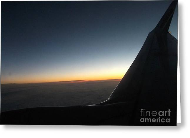 Sunset On Top Of The Clouds Greeting Card