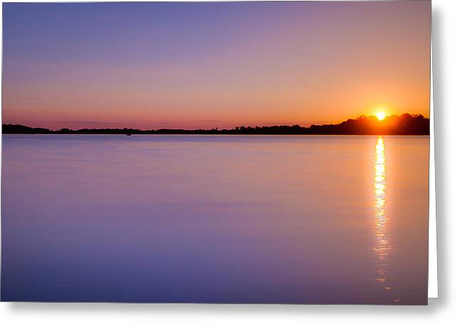 Sunset On White Bear Lake Greeting Card