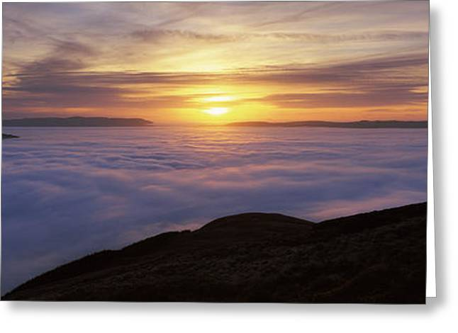 Sunset Over A Lake, Loch Lomond, Argyll Greeting Card