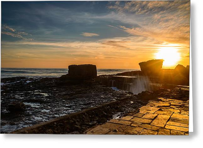 Sunset Over A Rough Sea IIi Greeting Card by Marco Oliveira