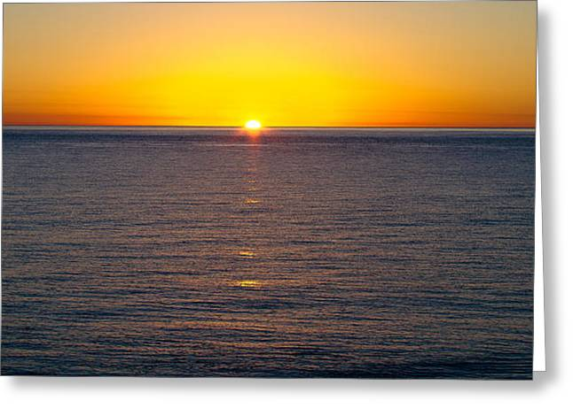 Greeting Card featuring the photograph Sunset Over Baja by Atom Crawford