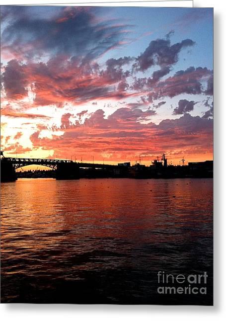 Sunset Over Ballard Greeting Card