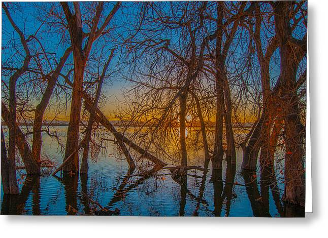 Greeting Card featuring the photograph Sunset Over Barr Lake_2 by Tom Potter