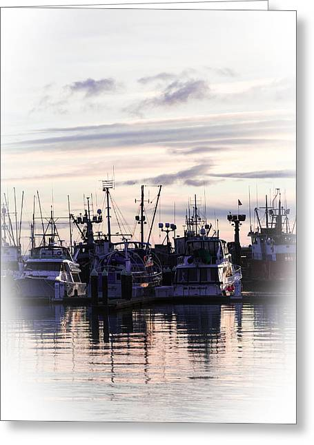 Sunset Over Bellingham Bay Greeting Card