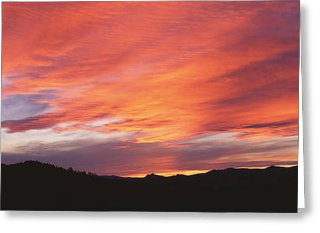 Sunset Over Black Hills National Forest Greeting Card by Panoramic Images