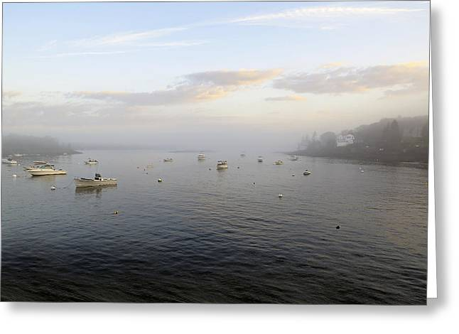 Sunset Over Booth Bay Harbor Greeting Card