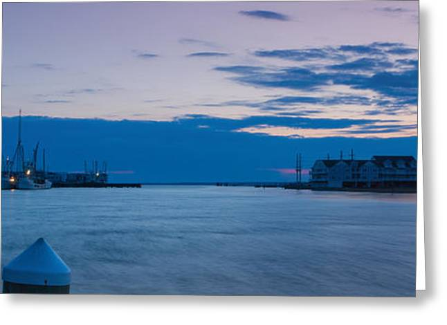 Sunset Over Chincoteague Inlet Greeting Card by Photographic Arts And Design Studio