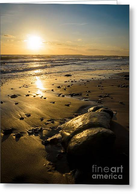 Sunset Over Christchurch Bay Greeting Card by OUAP Photography