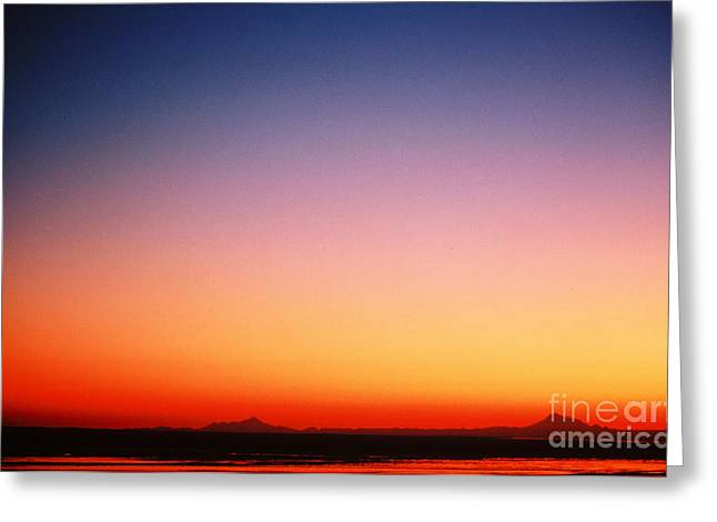 Sunset Over Cook Inlet Greeting Card by Ronnie Glover