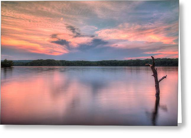 Sunset Over Cootes Greeting Card by Craig Brown