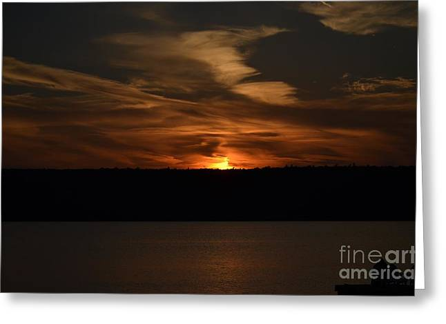 Sunset Over Door County  Greeting Card