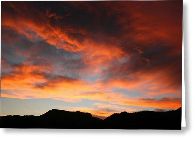Sunset Over Estes Park Greeting Card