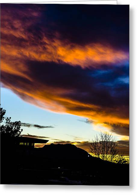 Sunset Over Granite Mountain And Ac1 Greeting Card