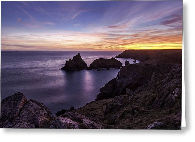 Sunset Over Kynance Cove Greeting Card
