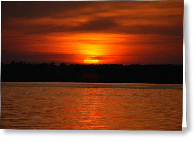 Sunset Over Lake Martin Greeting Card by Donald Williams