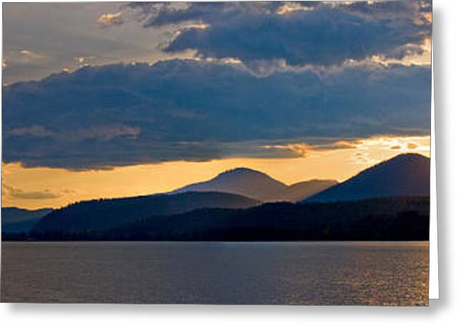 Sunset Over Lake Pend Oreille Greeting Card by Marie-Dominique Verdier