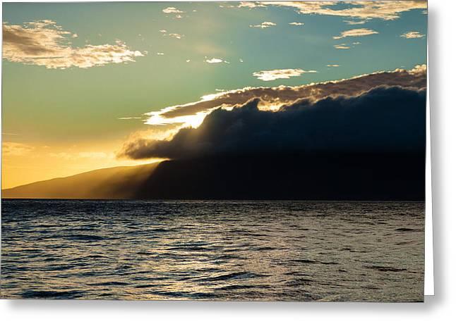 Sunset Over Lanai   Greeting Card