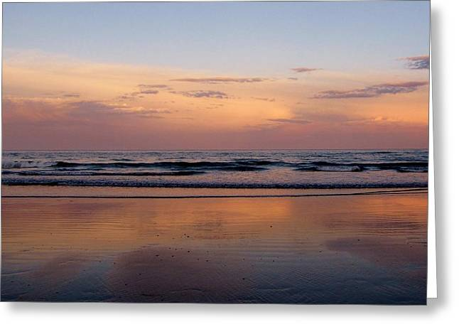 Sunset Over Long Sands Beach II Greeting Card
