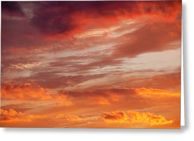 Sunset Over Loughrigg Greeting Card by Ashley Cooper