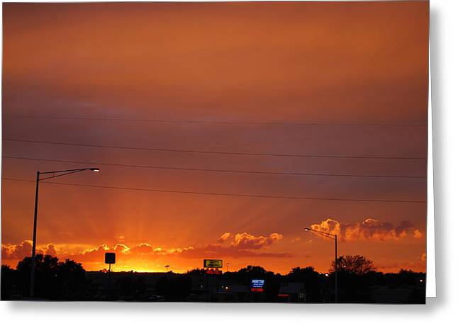 Greeting Card featuring the photograph Sunset Over Madison by Ramona Whiteaker