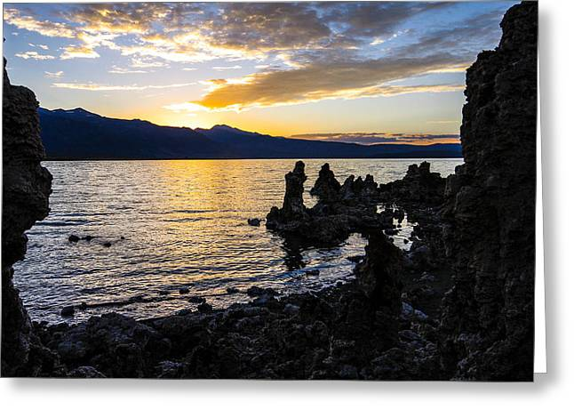 Sunset Over Mono Lake Greeting Card