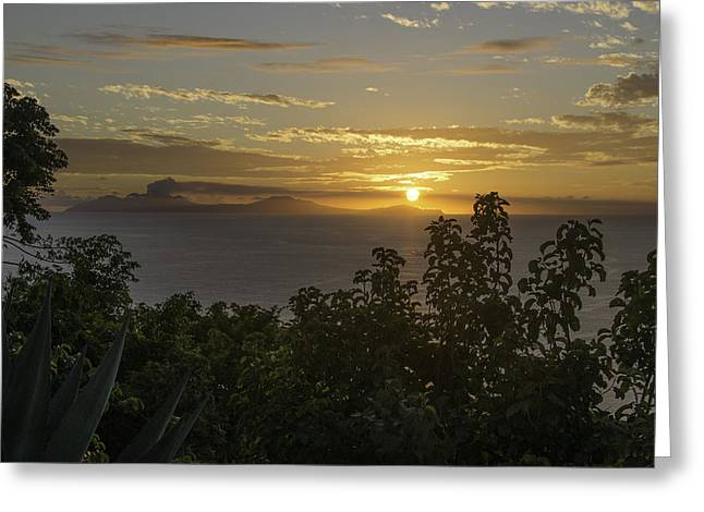 Sunset Over Montseratt Greeting Card