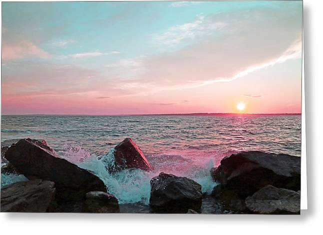 Sunset Over Newport Rhode Island Greeting Card by Brooke T Ryan