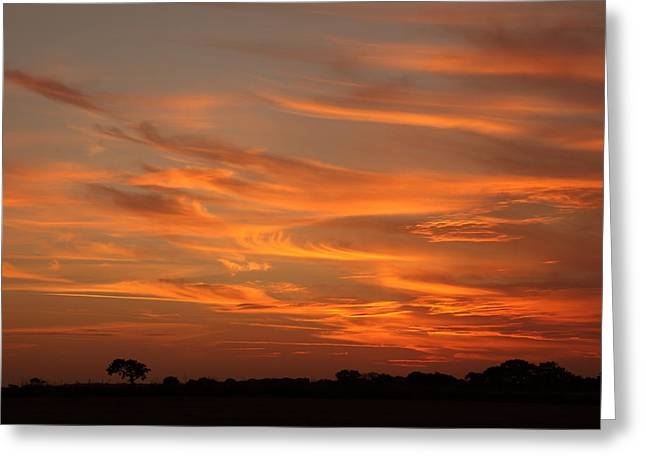 Sunset Over North Norfolk Greeting Card by Paul Lilley