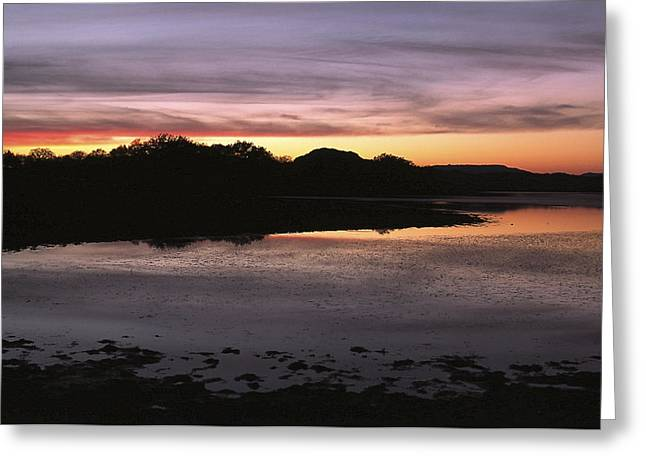 Sunset Over Quanah Parker Lake Greeting Card