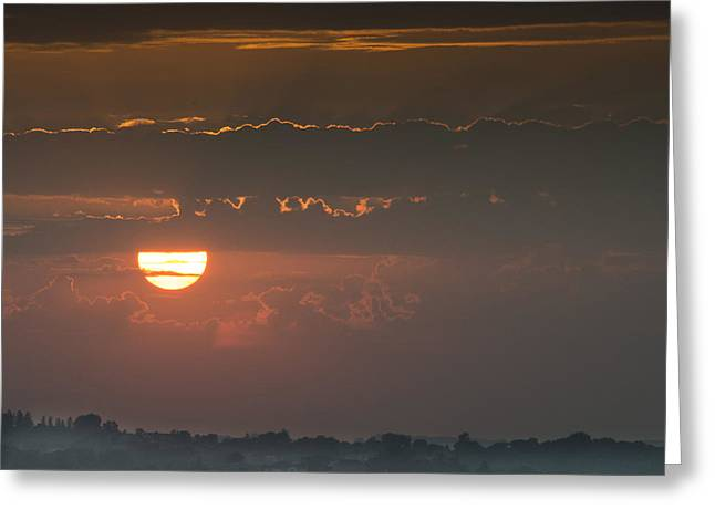 Sunset Over Rochester Greeting Card