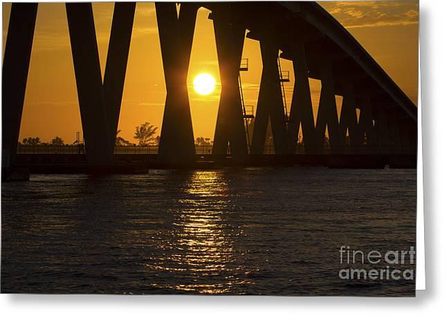 Sunset Over Sanibel Island Photo Greeting Card