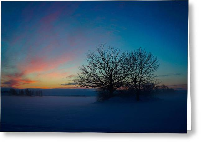 Sunset Over Sattuna Greeting Card by Jonas Lind